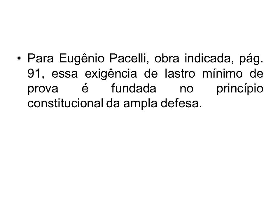 Para Eugênio Pacelli, obra indicada, pág