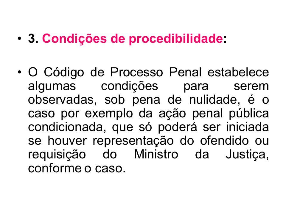3. Condições de procedibilidade: