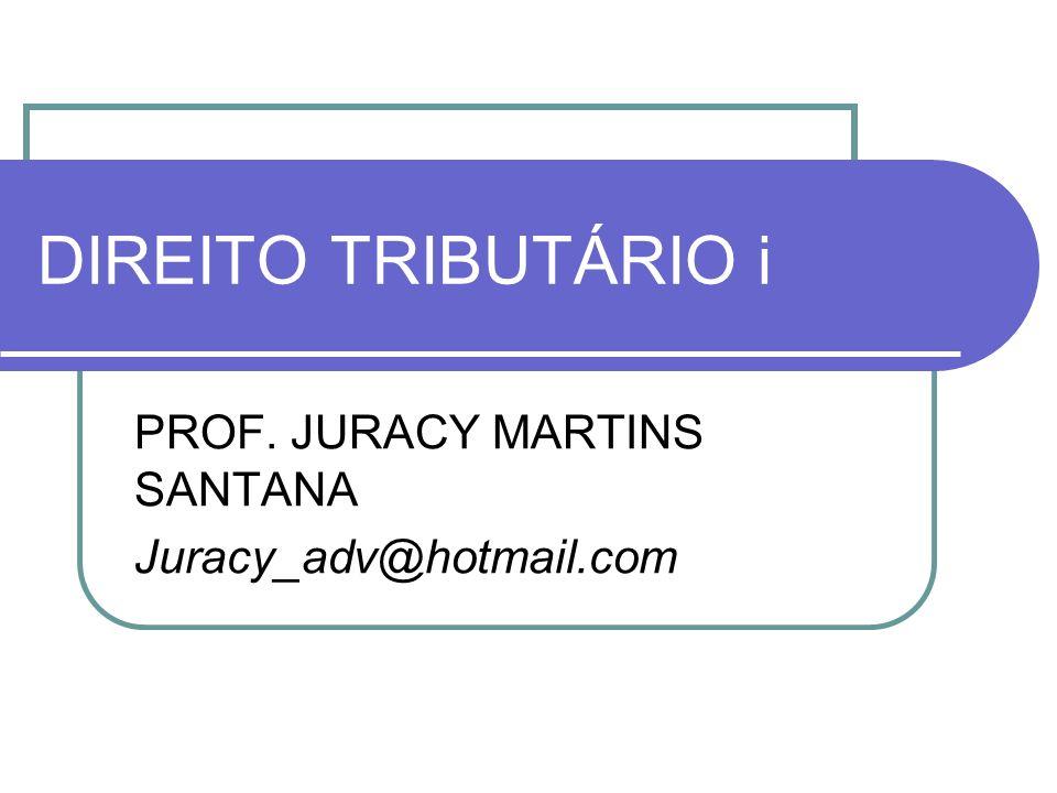 PROF. JURACY MARTINS SANTANA Juracy_adv@hotmail.com