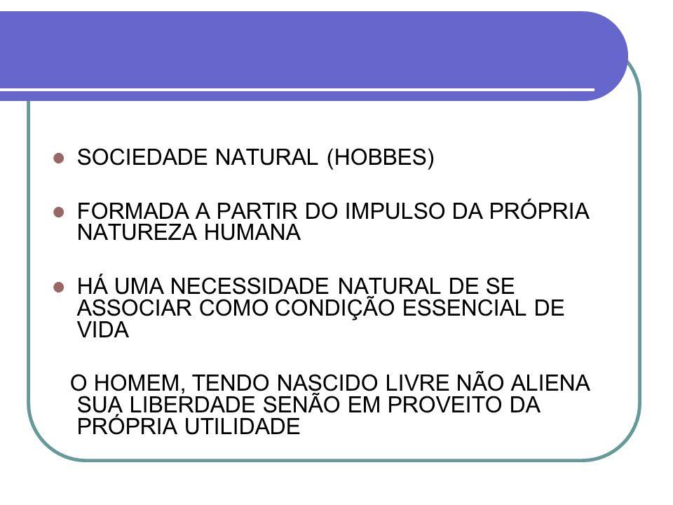 SOCIEDADE NATURAL (HOBBES)