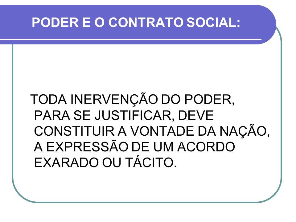 PODER E O CONTRATO SOCIAL: