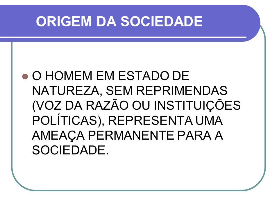 ORIGEM DA SOCIEDADE