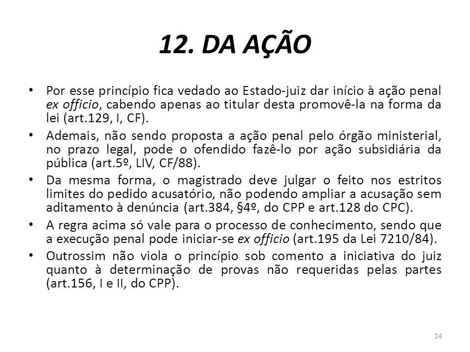 12. DA AÇÃO