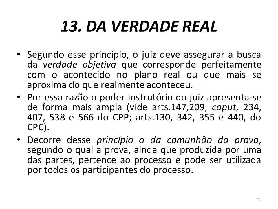 13. DA VERDADE REAL