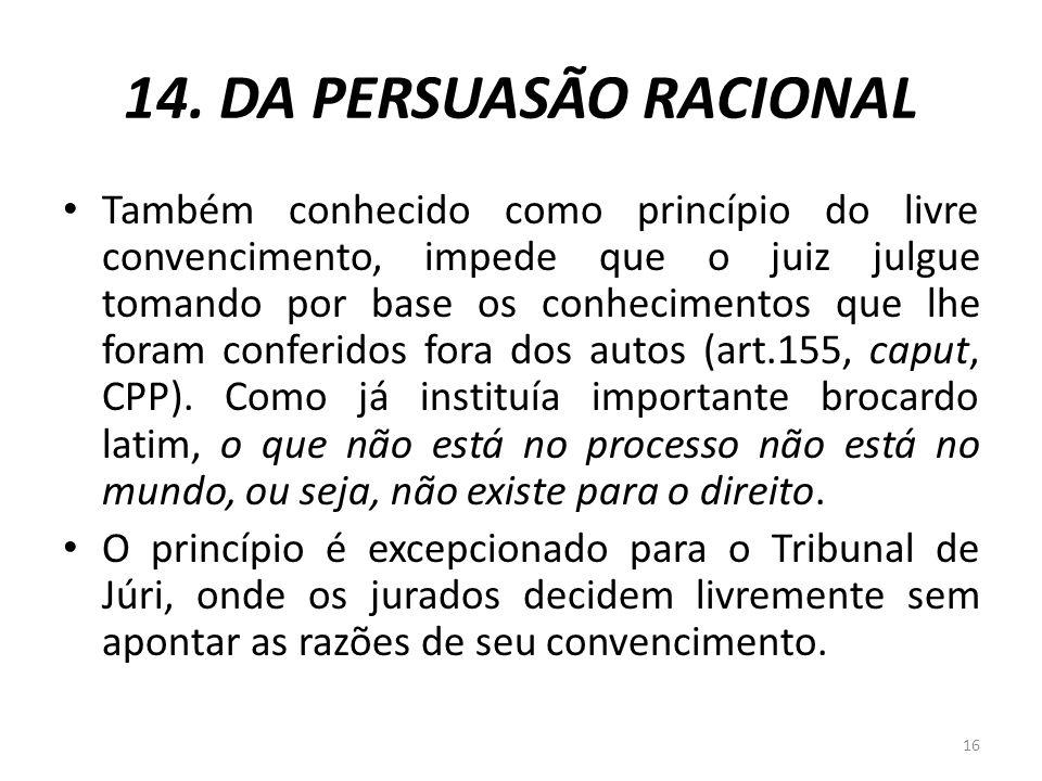 14. DA PERSUASÃO RACIONAL