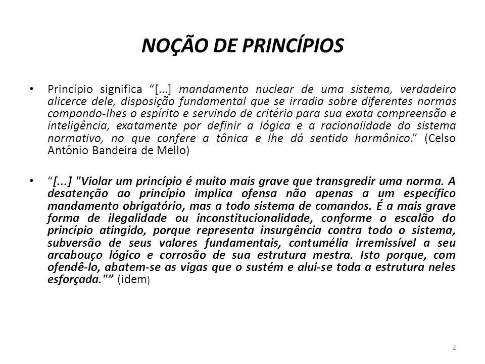 NOÇÃO DE PRINCÍPIOS