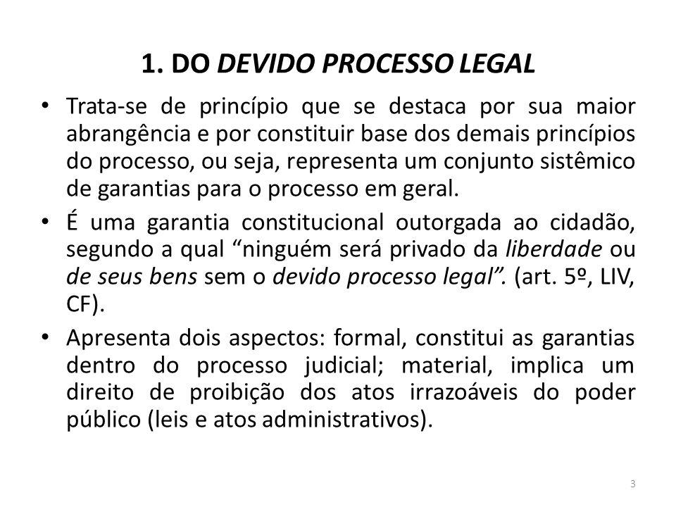 1. DO DEVIDO PROCESSO LEGAL
