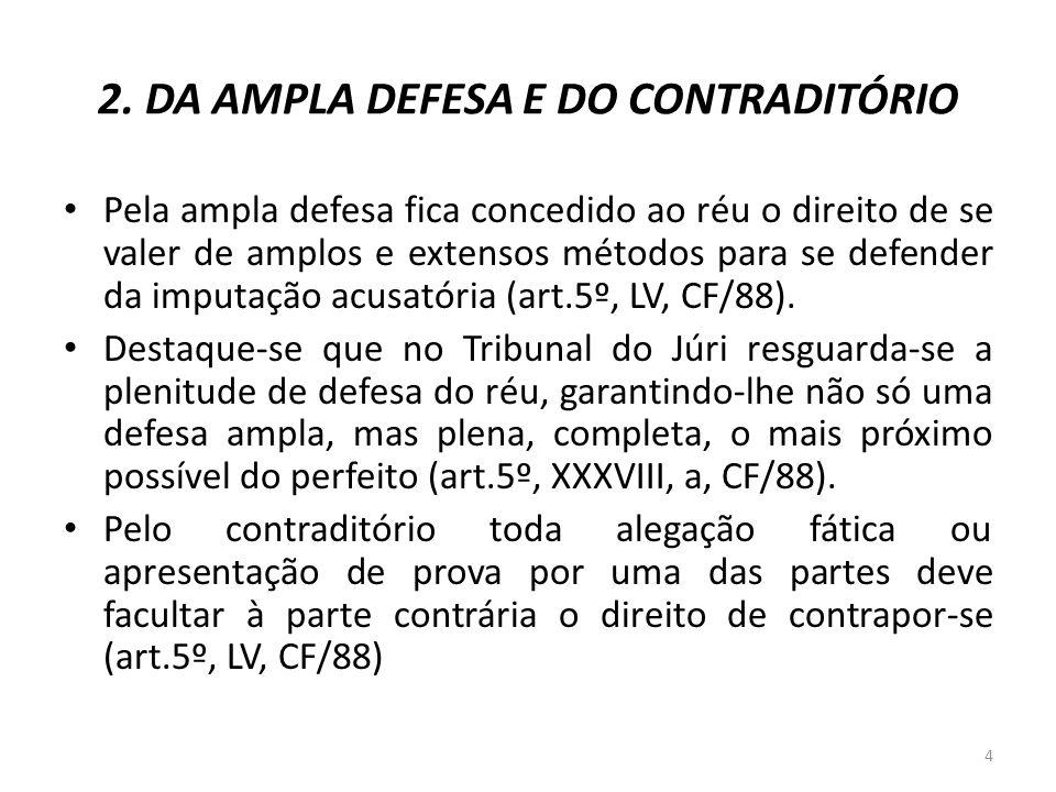 2. DA AMPLA DEFESA E DO CONTRADITÓRIO