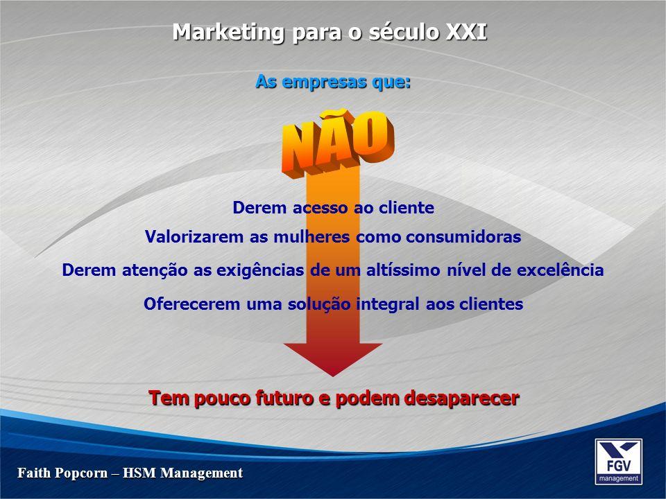 NÃO Marketing para o século XXI Tem pouco futuro e podem desaparecer