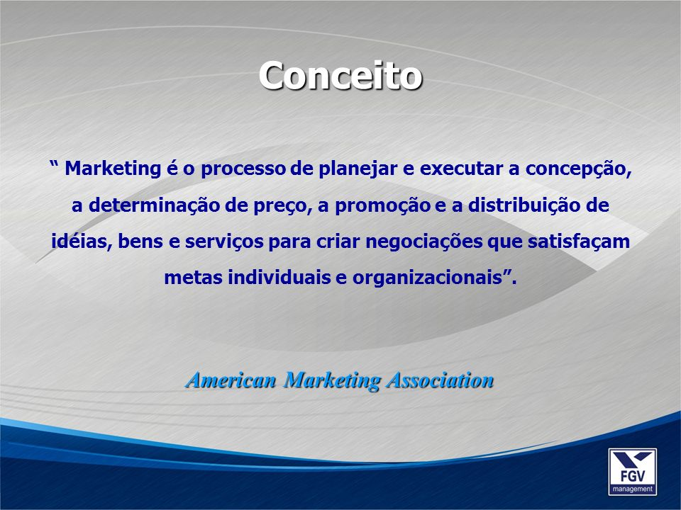 Conceito American Marketing Association
