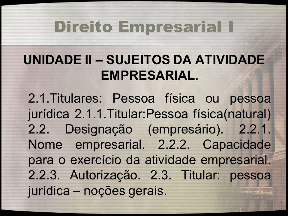 Direito Empresarial I