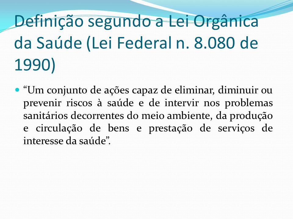 Definição segundo a Lei Orgânica da Saúde (Lei Federal n. 8
