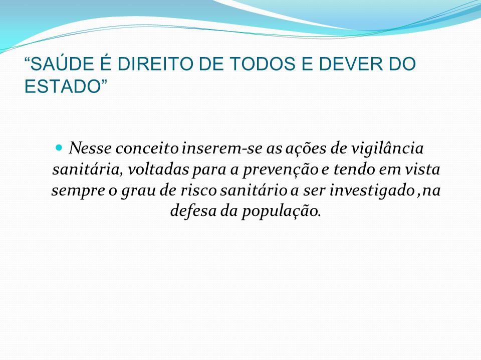 SAÚDE É DIREITO DE TODOS E DEVER DO ESTADO