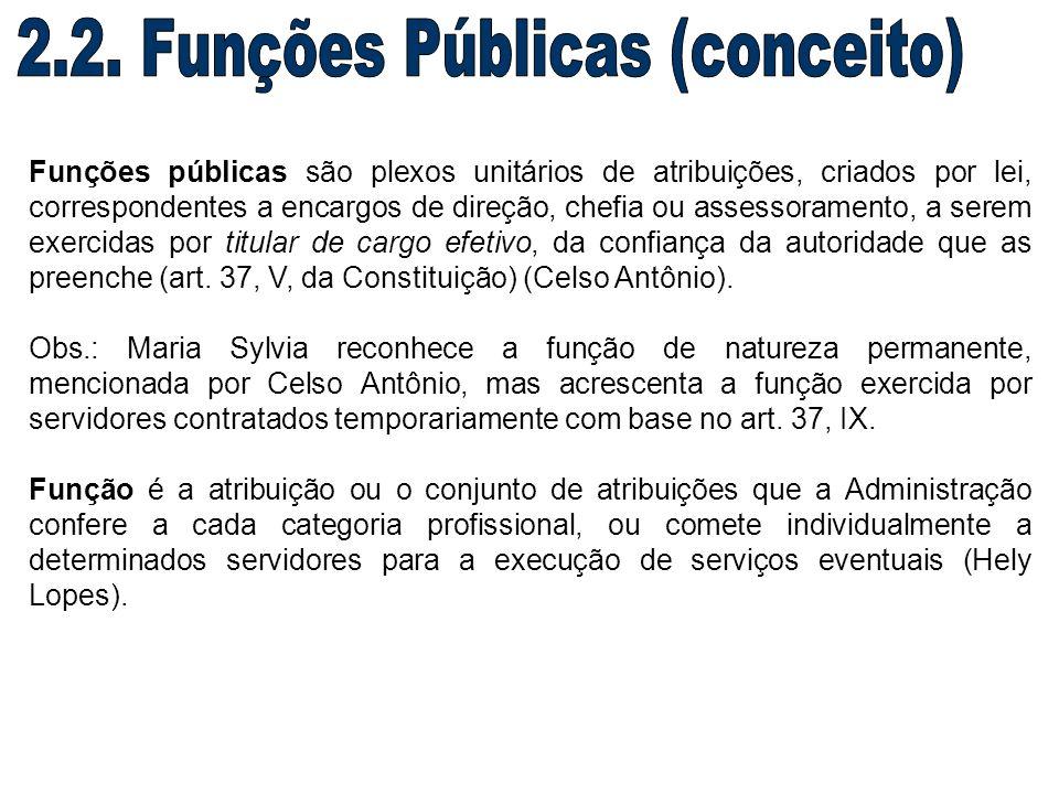 2.2. Funções Públicas (conceito)
