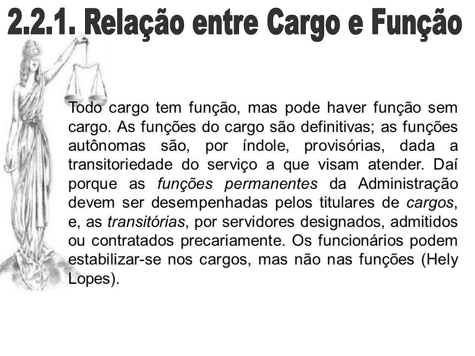 2.2.1. Relação entre Cargo e Função