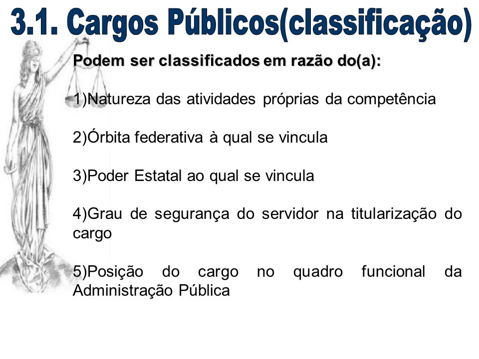 3.1. Cargos Públicos(classificação)