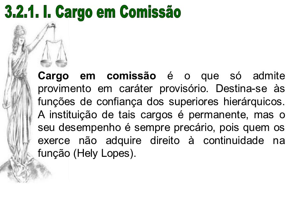 3.2.1. I. Cargo em Comissão