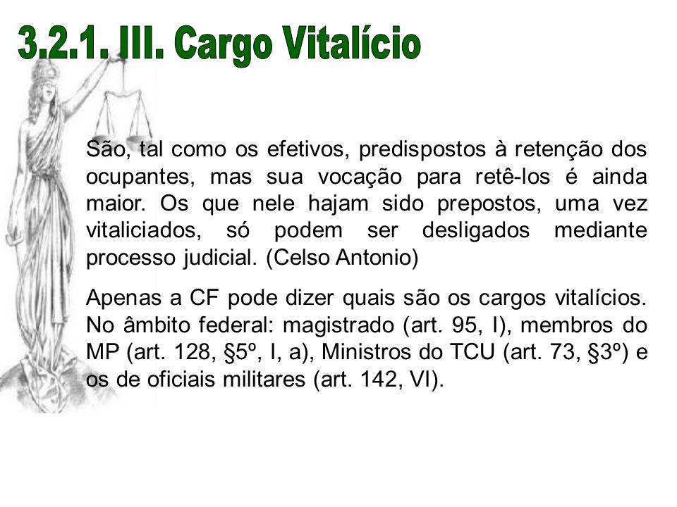 3.2.1. III. Cargo Vitalício
