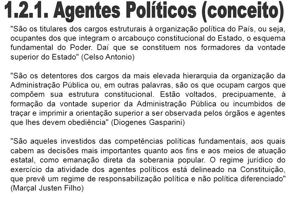 1.2.1. Agentes Políticos (conceito)