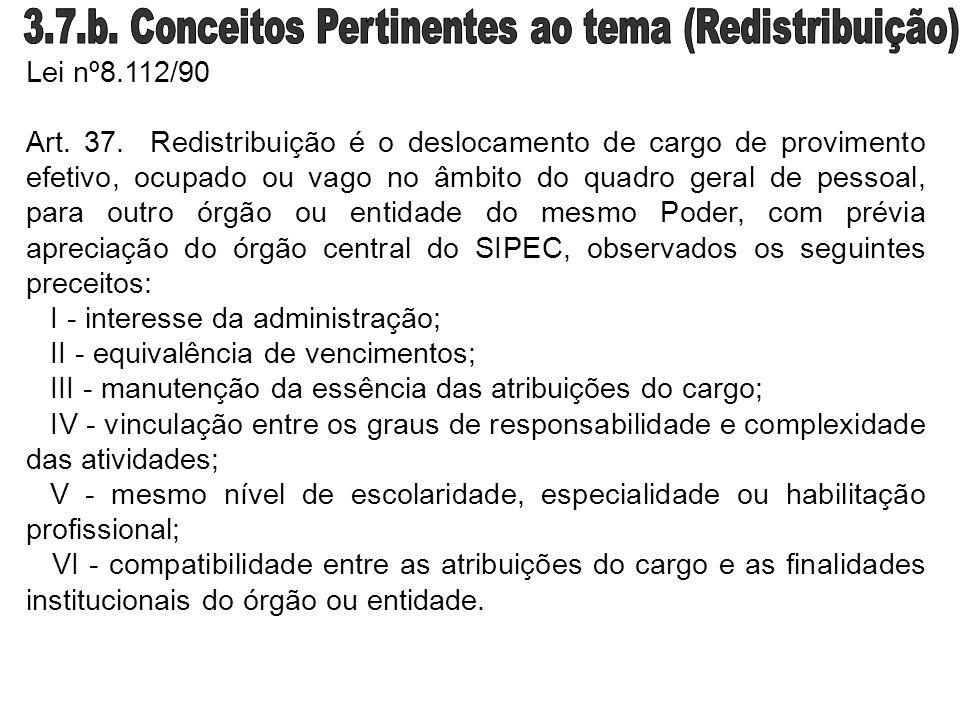3.7.b. Conceitos Pertinentes ao tema (Redistribuição)