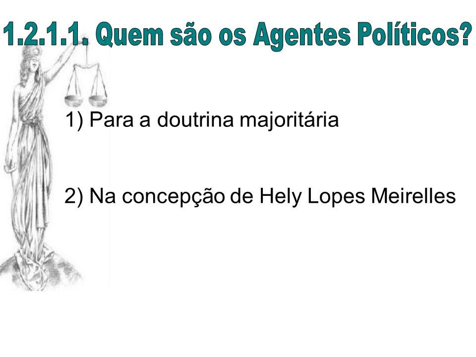 1.2.1.1. Quem são os Agentes Políticos