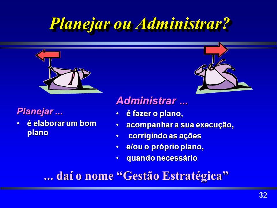 Planejar ou Administrar