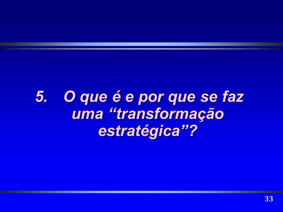 5. O que é e por que se faz uma transformação estratégica