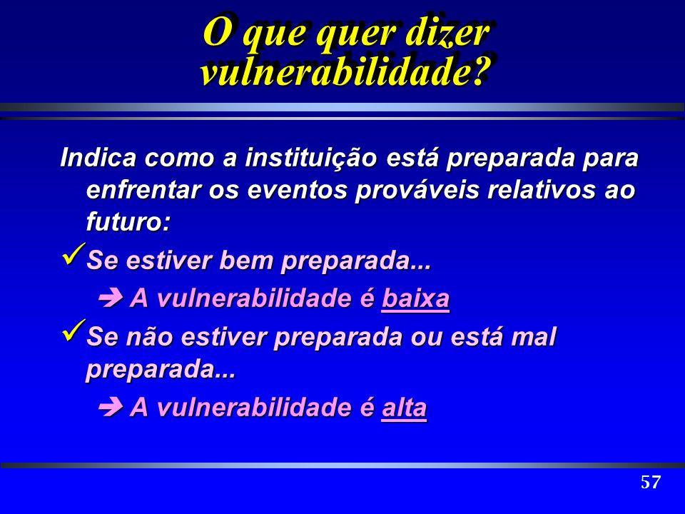 O que quer dizer vulnerabilidade
