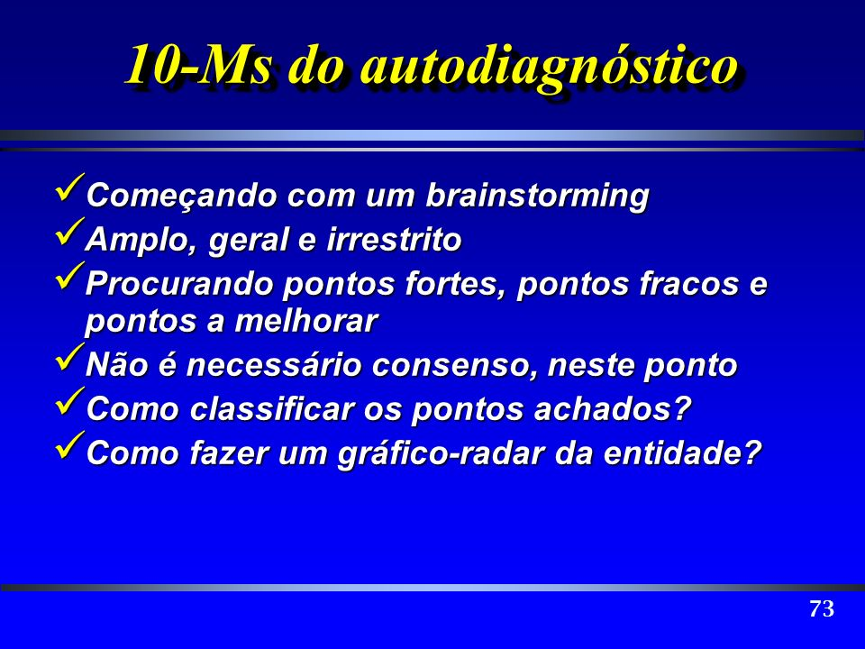 10-Ms do autodiagnóstico