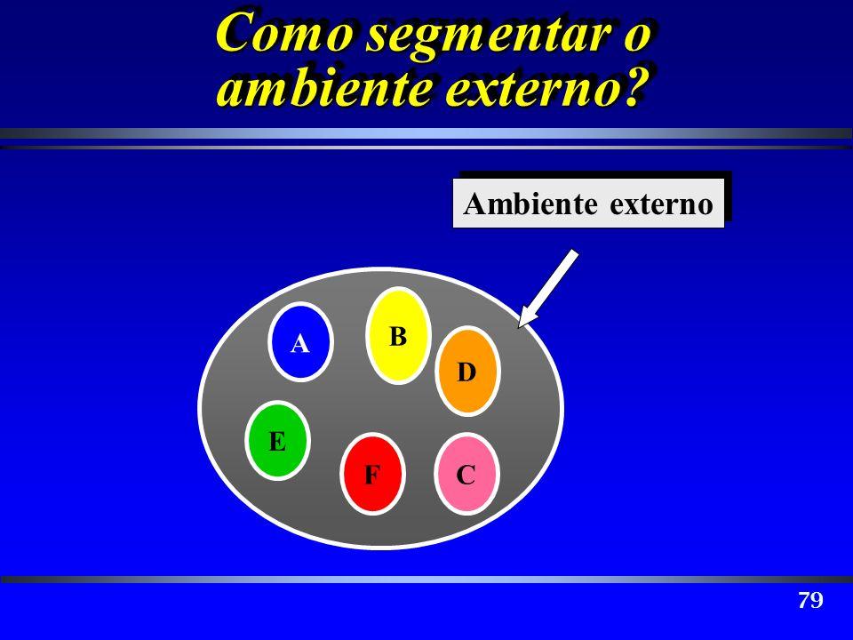 Como segmentar o ambiente externo