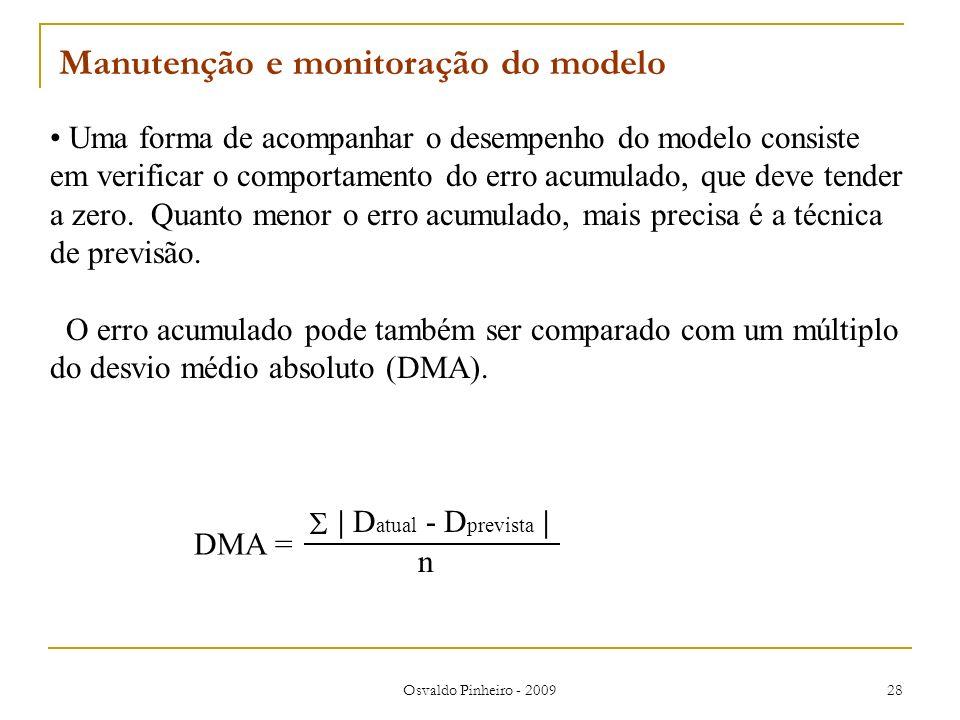 Manutenção e monitoração do modelo