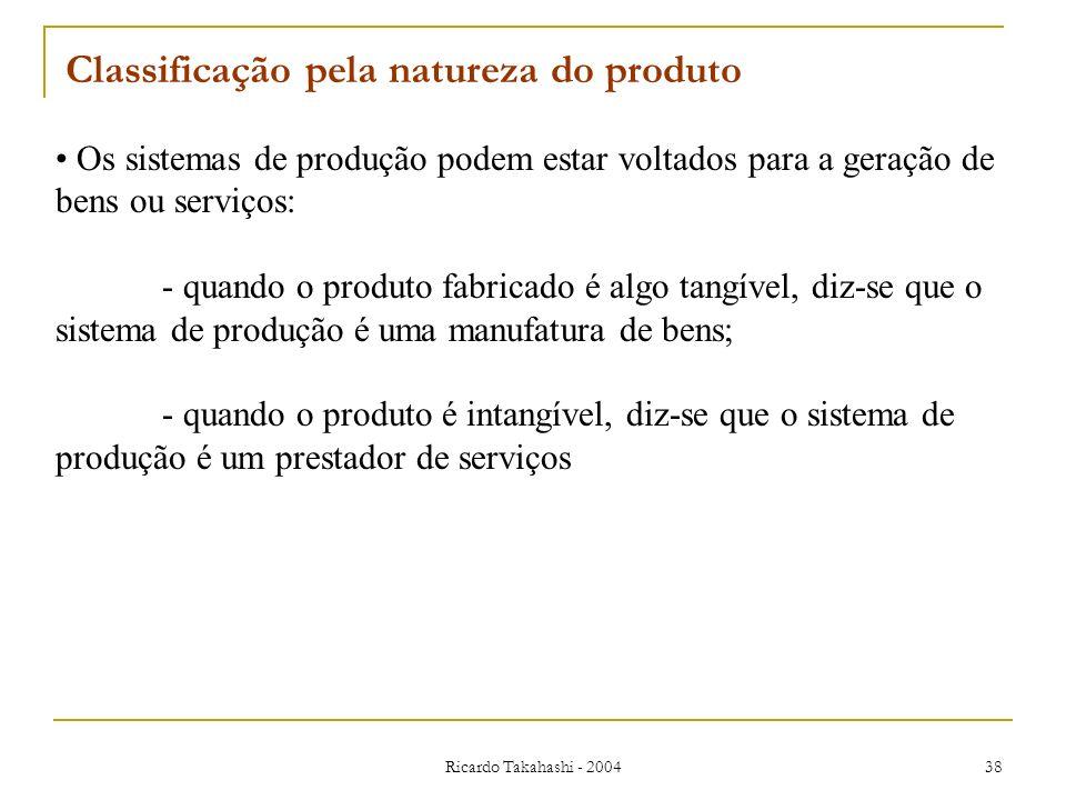 Classificação pela natureza do produto