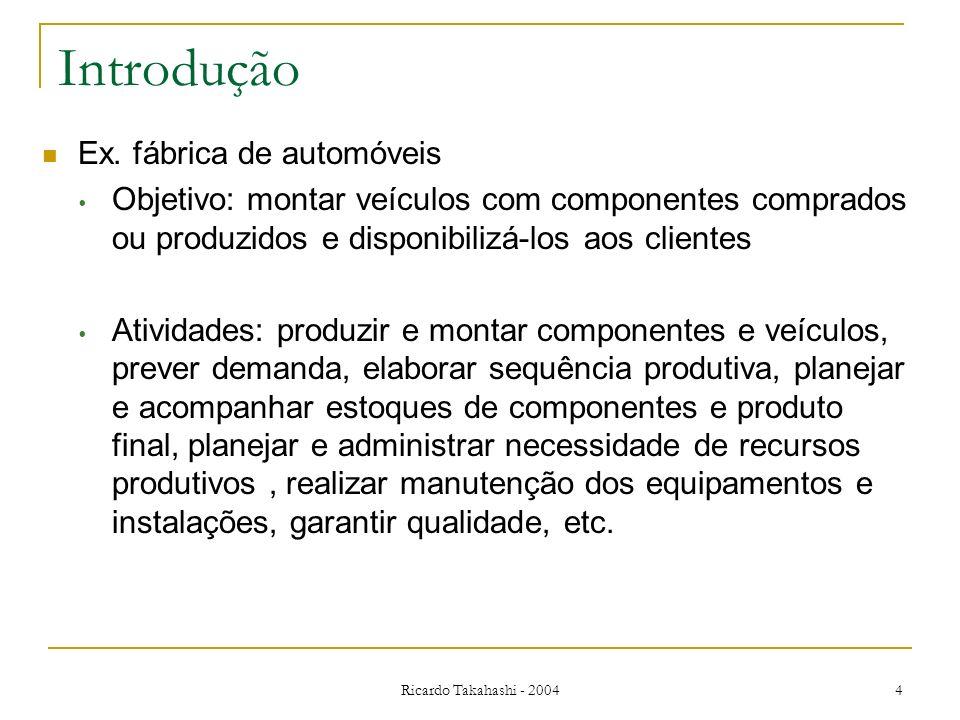 Introdução Ex. fábrica de automóveis