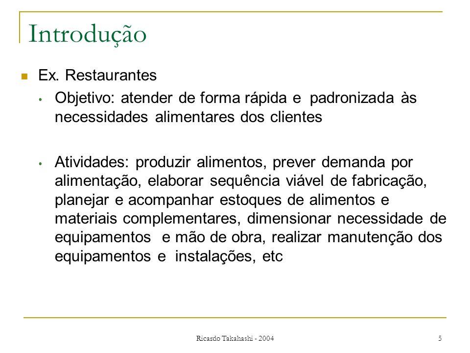Introdução Ex. Restaurantes