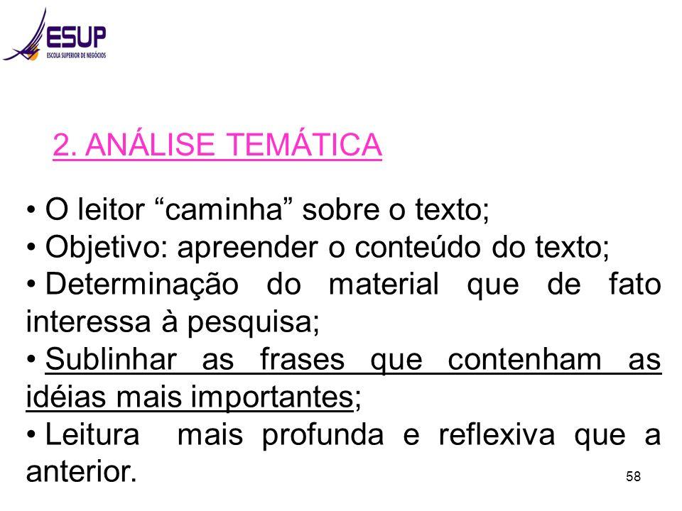 Objetivo: apreender o conteúdo do texto;