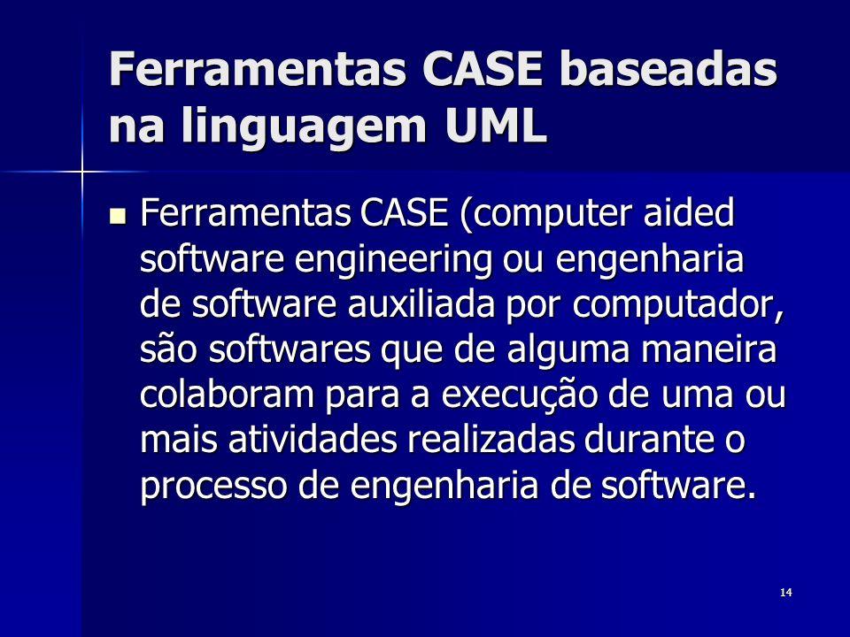 Ferramentas CASE baseadas na linguagem UML