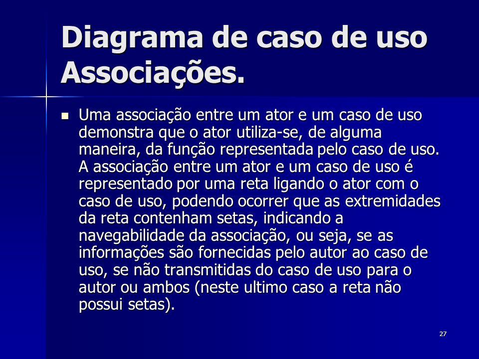Diagrama de caso de uso Associações.