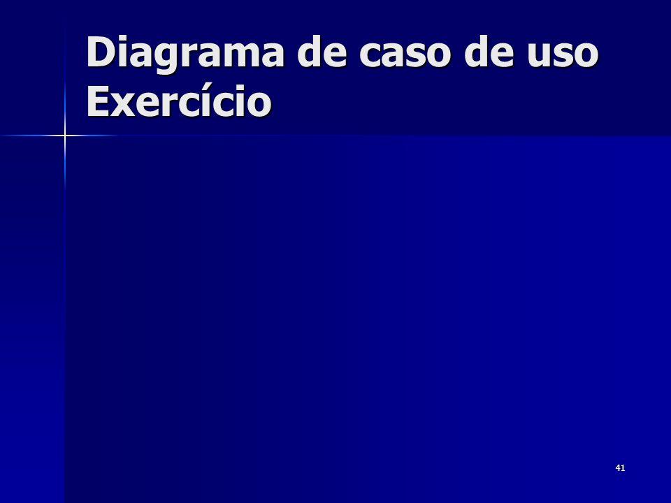 Diagrama de caso de uso Exercício