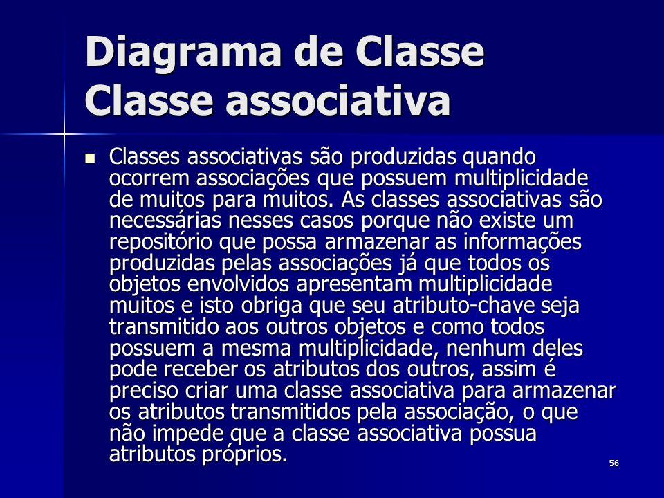 Diagrama de Classe Classe associativa