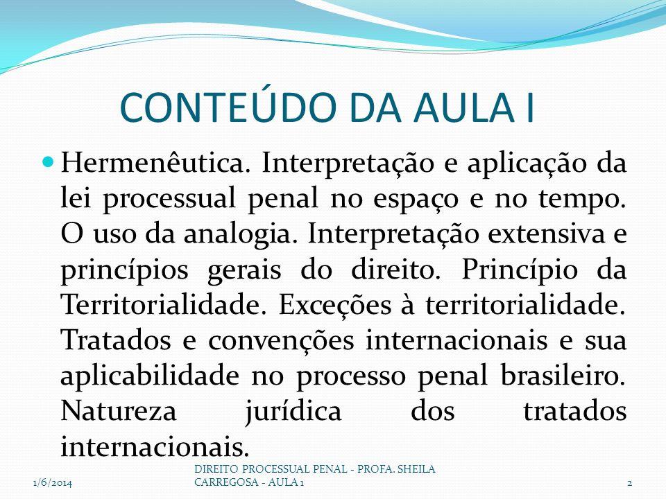 CONTEÚDO DA AULA I