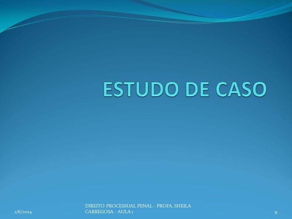 ESTUDO DE CASO 3/24/2017 DIREITO PROCESSUAL PENAL - PROFA. SHEILA CARREGOSA - AULA 1