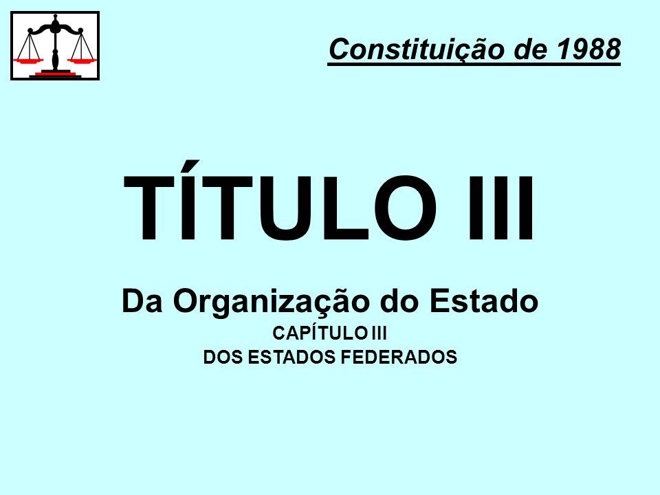 Da Organização do Estado