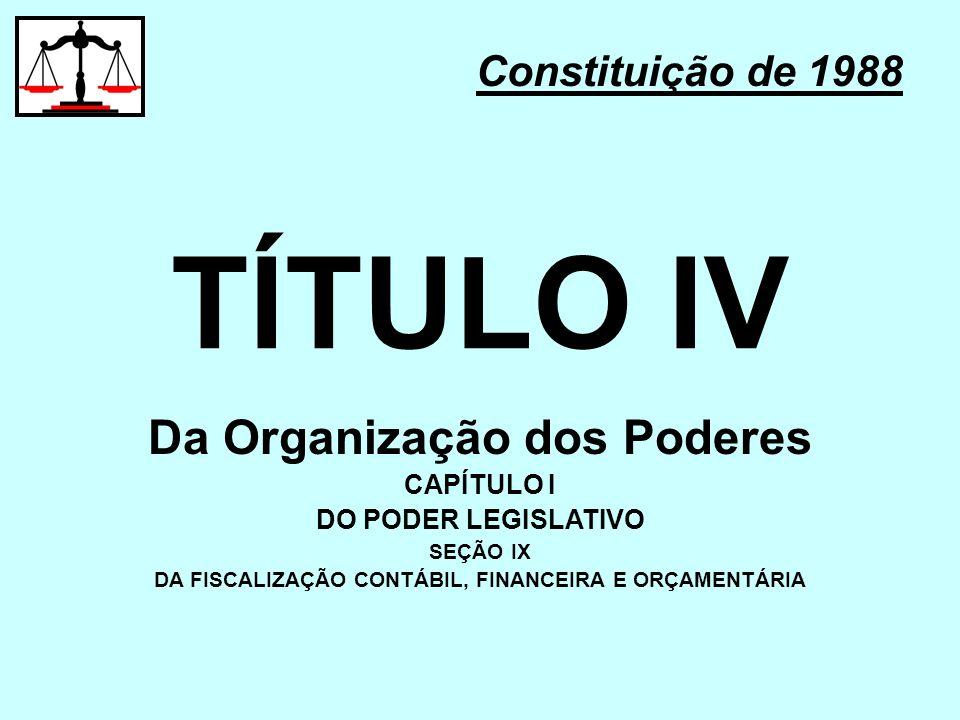 TÍTULO IV Da Organização dos Poderes Constituição de 1988 CAPÍTULO I