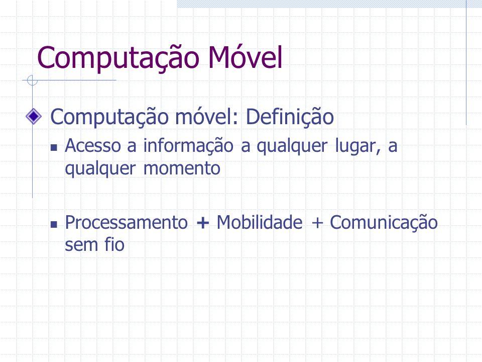 Computação Móvel Computação móvel: Definição