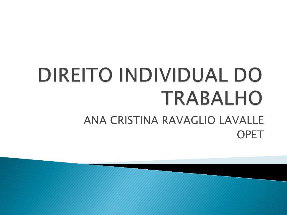 DIREITO INDIVIDUAL DO TRABALHO