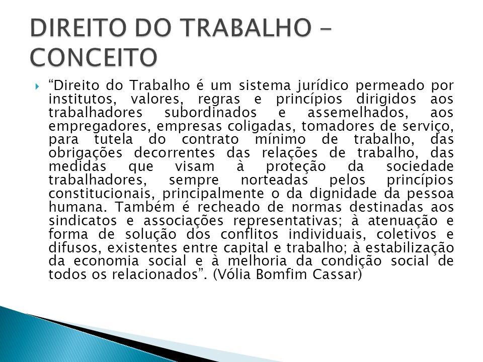 DIREITO DO TRABALHO - CONCEITO