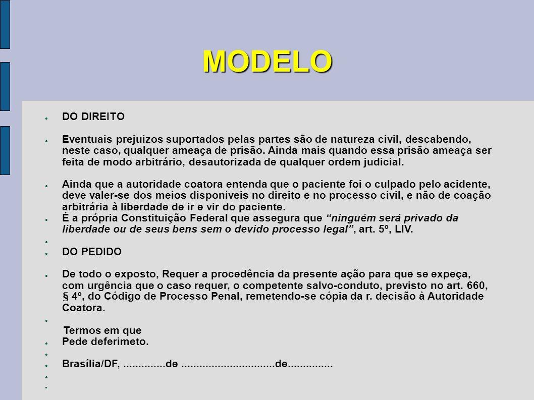 MODELO DO DIREITO.