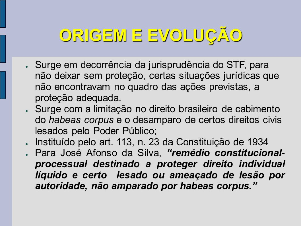 ORIGEM E EVOLUÇÃO