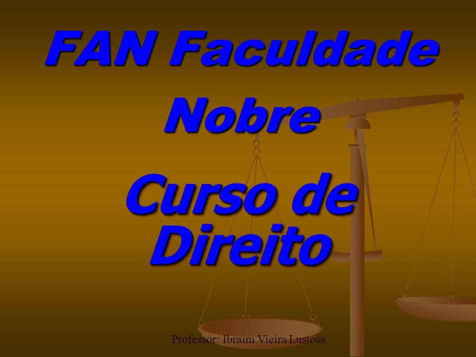 FAN Faculdade Nobre Curso de Direito Professor: Ibraim Vieira Lustosa