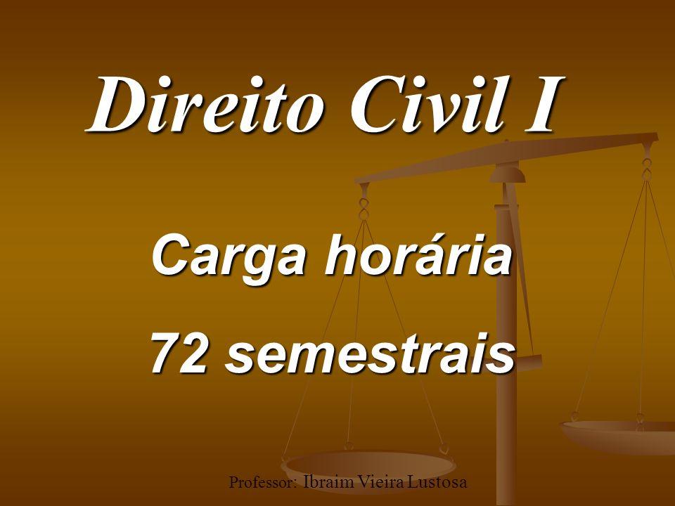 Professor: Ibraim Vieira Lustosa
